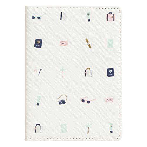 "kikki.K Its About The Journey Designer Collection - PVC Passport Holder, Features Textured Saffiano Unique Design, Matching Cotton Lining, Measures 5.51"" L x 3.94"" W x 0.19"" H"
