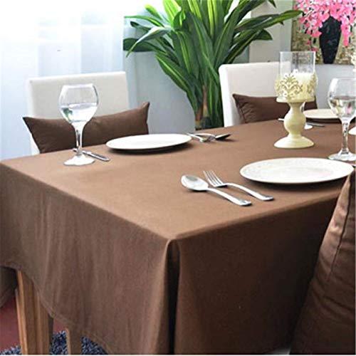 Multifuncional Color Sólido Puro Algodón Sala De Estar Familiar Cocina Hotel Dormitorio Mantel Rojo, Morado, Gris, Negro, Marrón