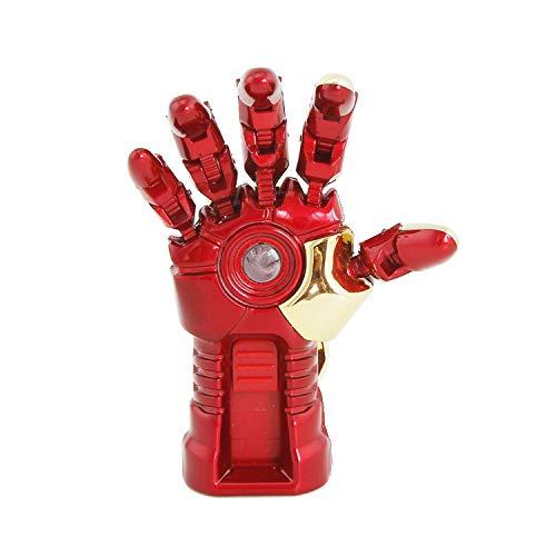 Pen Drive Usb Flash Chiavette Creativo Cartone Animato Serie Marvel Mini Portatile Alta Velocità Romanzo Alta Velocità Portachiavi Animazione Personalit (64GB, Iron Man Right hand)