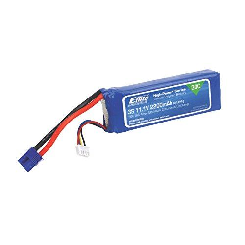 E-flite 11.1V 2200mAh 3S 30C LiPo Battery: EC3, EFLB22003S30