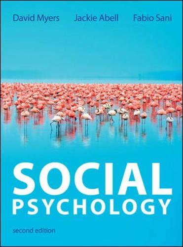 Myers, D: Social Psychology (UK Higher Education Psychology)