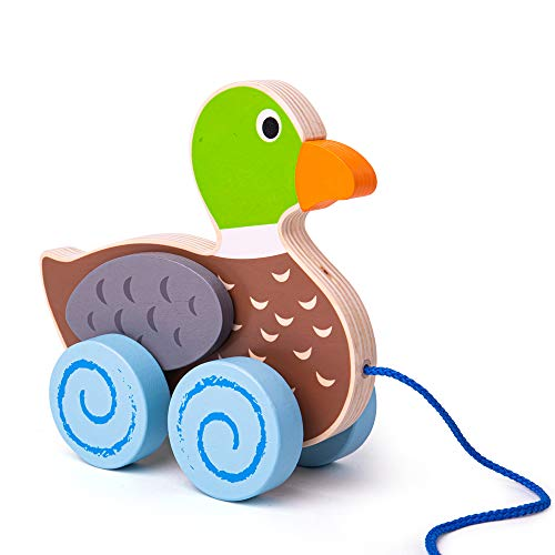 Bigjigs Toys Wooden Duck Pull Along Toy