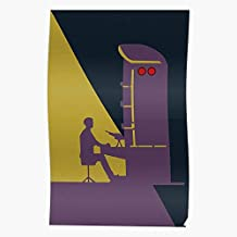 To School Back Vintage Education Science Movie Purple Russian Regalo para la decoración del hogar Wall Art Print Poster 11.7 x 16.5 inch