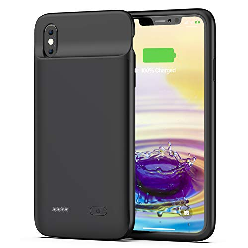 OMEETIE Battery Case for iPhone Xs Max, 5000mAh Slim Portable Rechargeable Charging Case Compatible with iPhone Xs Max(6.5 inch) Protective Charger Case (Black)
