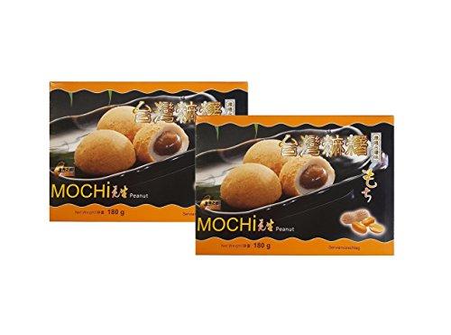 2 x 180g Erdnuss Mochi -12 Reiskuchen mit Erdnuss Füllung Klebreis Mochis Pamai Pai®