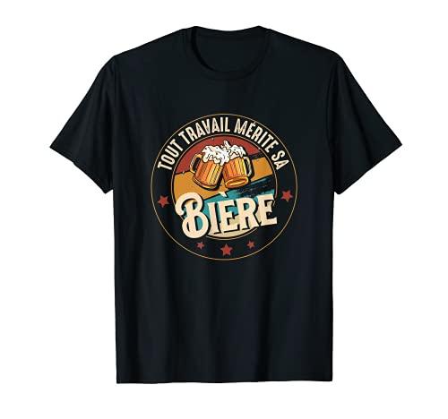 Bière Humour Original Collègue Alcool Homme Apéro Femme T-Shirt