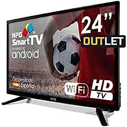 Smart TV NPG 24 pollici Android HD DVB-T2 WiFi PVR