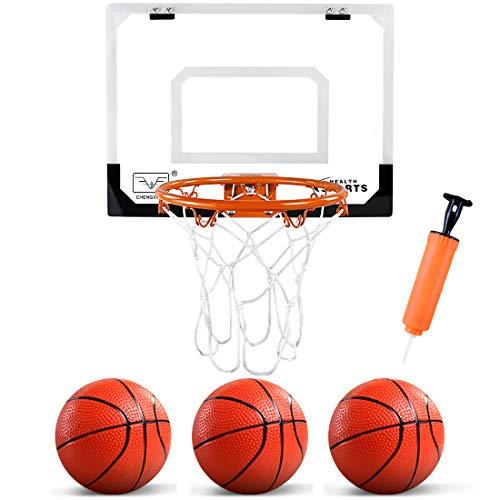 ZNCMRR Kids Indoor Mini Basketball Hoop Set Complete Basketball Game for Door All Accessories with 3 Balls,16' x 12' Basketball Hoop