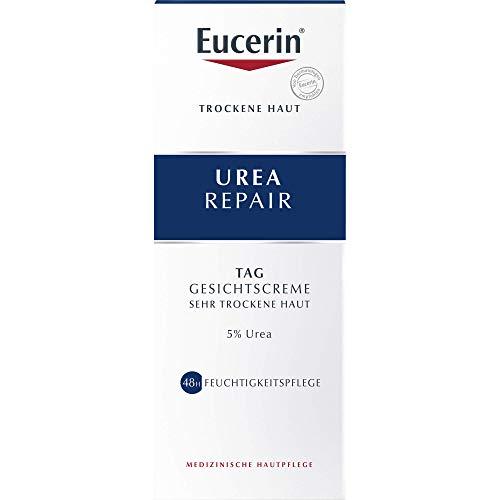 Eucerin Urea Repair Tag Gesichtscreme für sehr trockene Haut, 50 ml Creme
