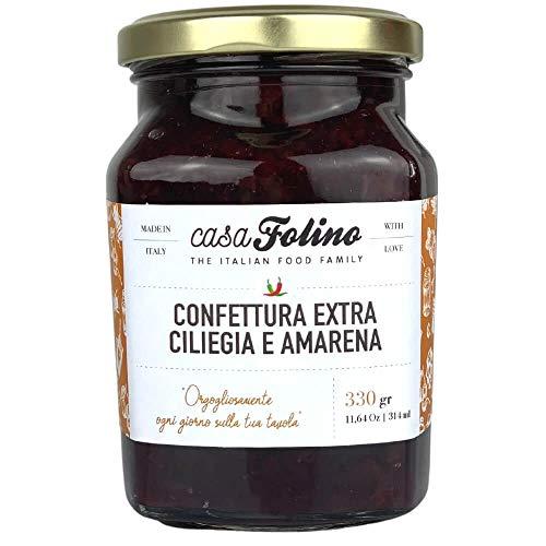 Confettura Extra Ciliegia e Amarena 330g - Casafolino -Confettura dal gusto originale e gradevole al palato. Made in Italy.