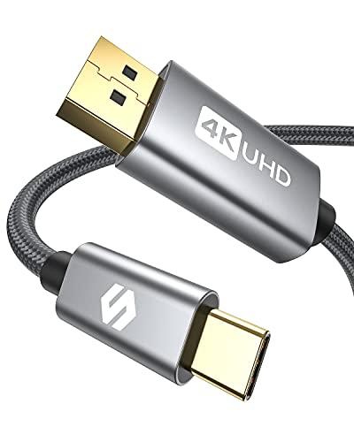 USB C DisplayPort Kabel 2m (4K@60Hz, 2K@144Hz), Silkland [2021 Updated] Thunderbolt 3 auf DisplayPort Kabel Kompatibel für MacBook Pro/Air, iPad Pro 2020/2018, XPS 15/13, Surface, Galaxy S21