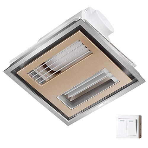 WYBFZTT-188 Ventilador de Techo y luz con Aislamiento acústico Absorbente de Sonido for baño y hogar