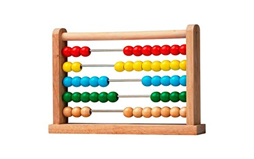 Wooden Bead Abacus Counting Number Frame Learning Maths Toy Made of Real Wood