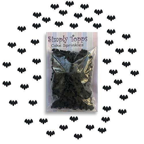 Schwarze Fledermaus Halloween Sugar Kuchen Streusel 25g für Kuchen Törtchen Dekorationen