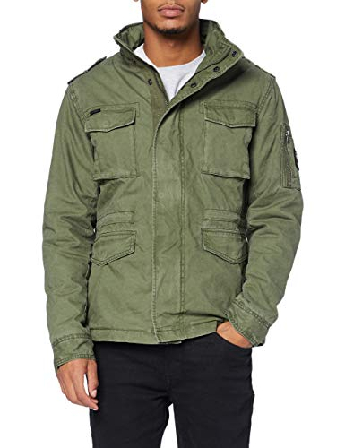 Superdry Mens Classic Rookie Jacket, Army, XL
