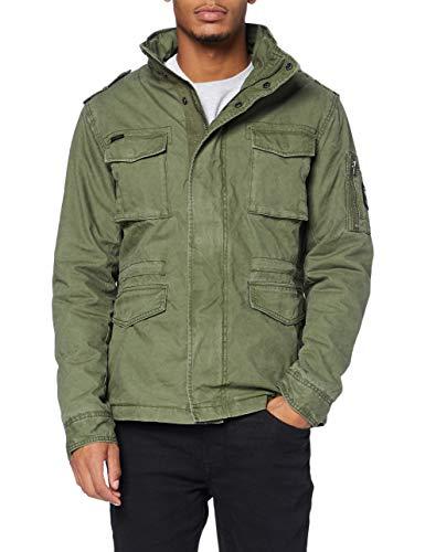 Superdry Classic Rookie Jacket Chaqueta, ejército, M para Hombre