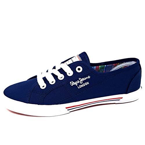 Pepe Jeans London, Zapatillas Mujer, Azul (Marine), 39 EU