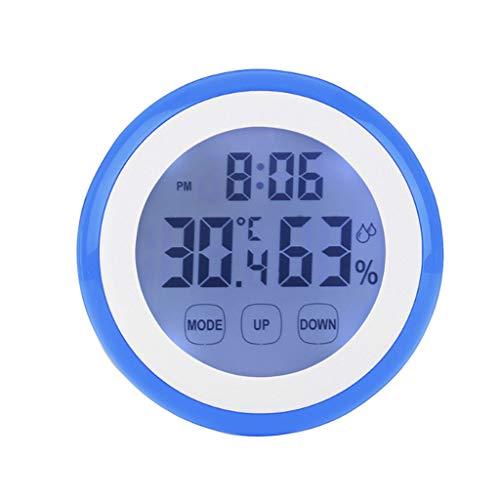 DUOER-wandklokken hete kunststof digitale temperatuur luchtvochtigheid tijd functie wandklok indoor weerstation meter tester LCD achtergrondverlichting klokken