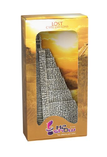 Hydor B00220 Aquariendekoration Lost Civilization Aztec Pyramide links, Höhe 31 cm