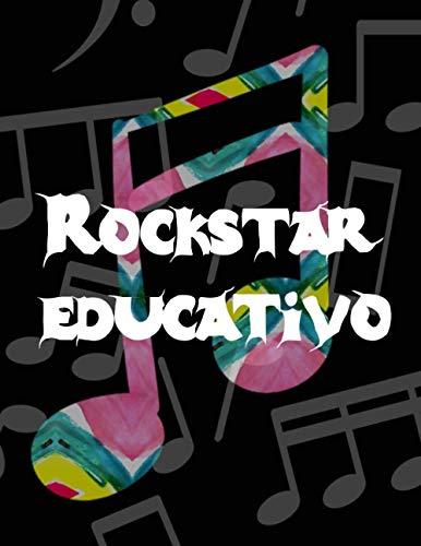 Rockstar educativo: Quadernone Pentagrammato Di Musica - Pentagramma libretto D appunti Blocco Notes Taccuino di Spartiti foderata Blocco Per Suonare ... di musica, 107 pagine (21,6 x 28 cm)