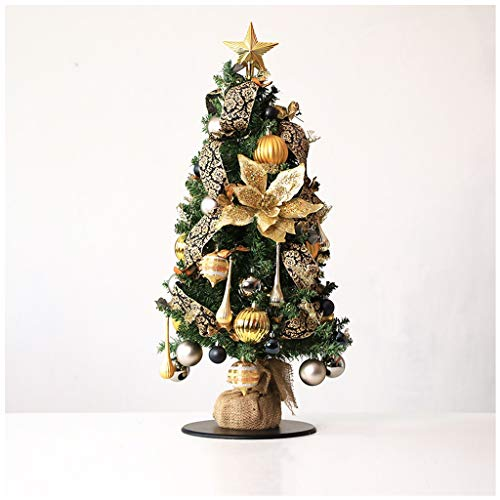 NYKK Artificial Christmas Tree Red Christmas Desktop Christmas Tree Gift Christmas Green Spruce Star Decorations 17.7 Inches Three Styles(Cloth Bag Base) Christmas Tree (Color : C)