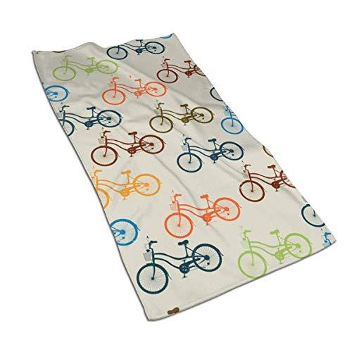 DAWN&ROSE Color Fiets Keuken Handdoek, 27.5X 15.7 Inch, Ultrafine Fiber, Zeer absorberend, Multifunctioneel