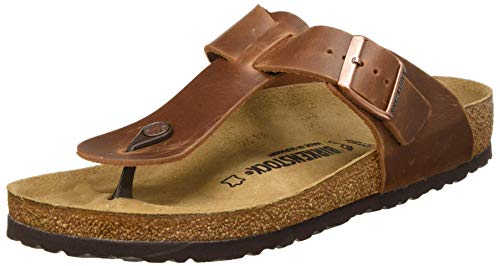 BIRKENSTOCK Herren Tongs Medina Cuir Gras Antique Brown Sandale, 45 EU Large