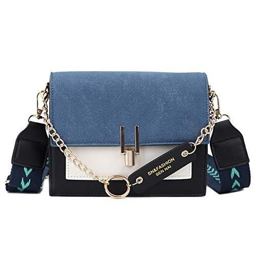 Mdsfe Fashion Women Bag 2020 Crossbody Bags for Ladies Purses Handbags Shoulder Bag PU Leather Chain Design Belt bag - SN-9217 blue,20.5CM x14.5CM x8CM,a1