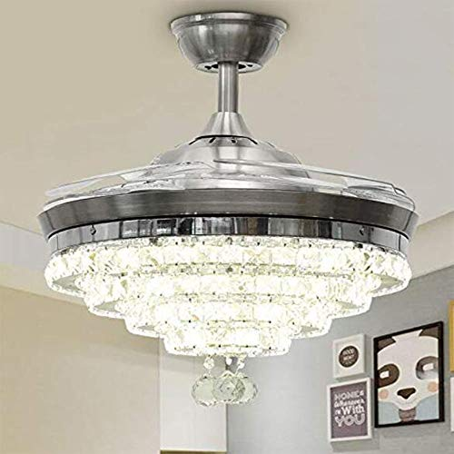 Ceiling Fan Crystal Chandelier, 42 Inches Luxury Chandelier...