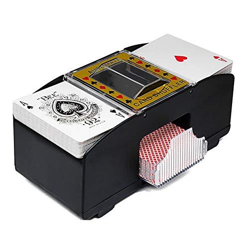 P12cheng Kartenmischmaschine, elektronisches Brettspiel, Spielkartensortierer, elektrisch, automatisch, Poker Shuffling-Mixmaschine für Poker Rummy Shuffle 2 Decks mit Pokern.