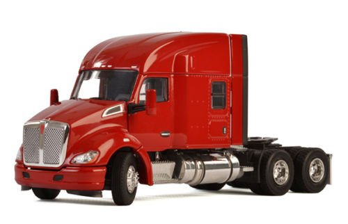 Kenworth T680 6X4 3 Axle Tractor Sleeper Cab Red 1/50 Diecast Model by WSI Models 33-2029