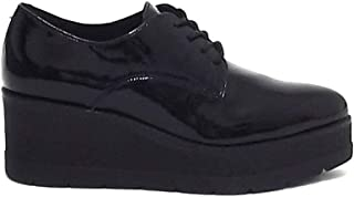Janet sport donna nero E8102 articolo 41786 scarpa lacci pelle
