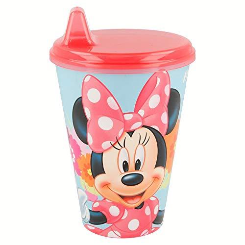Copo com Bebedor Rígido Disney Minnie - Lillo, Rosa, 430 ml