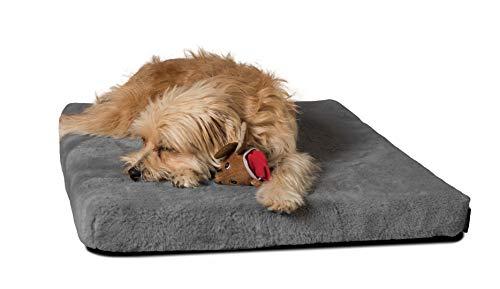 TrendPet VitaMedog - Viskoelastische Matratze Hundebett für Hunde grau (110x70cm)