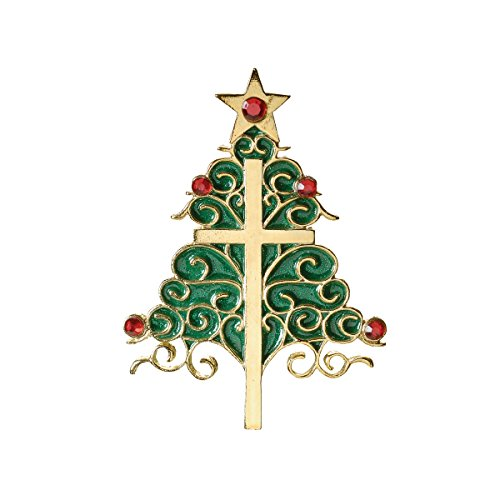 Holiday Traditions Exclusive Christmas Tree with a Cross Hanging Ornament with Verse, 3.5-Inch