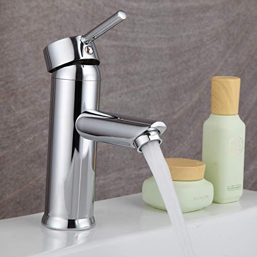 Wasserhahn Bad Armatur Waschtischarmatur Messing Waschbecken Armaturen, Badarmatur Warm Kalt Mischbatterie Einhandmischer fürs Badezimmer