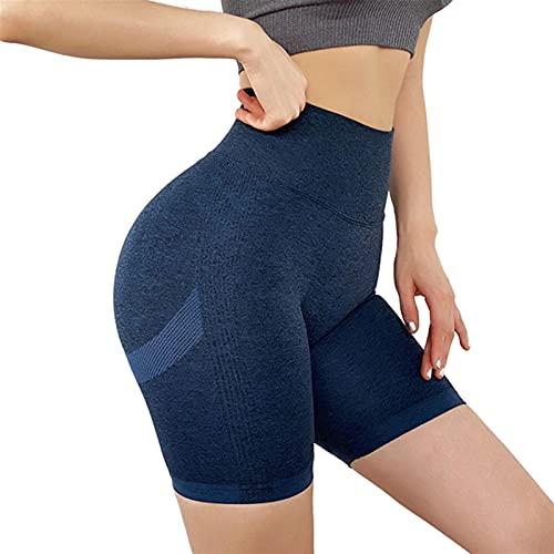 TASJS Womens Slim Fit High Cinte Yoga Sport Cómodo Pantalones Cortos Ultra Soft Soft Descanso Briefs Largos para los Vestidos, Entrenamiento y Yoga (Color : Royal Blue, Size : L)