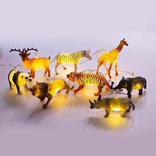 FLCSIed String Lights with Bright Animals 8LEDS Realistic Looking Animals Light Children Gift Plastic Toy Super Fun Dino Lights (8 LEDs)