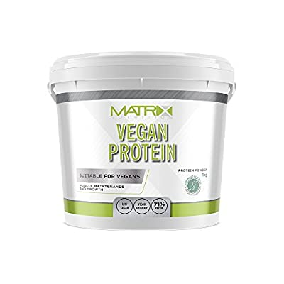 Matrix Nutrition Vegan Friendly Protein 3 Plant Protein Low Sugar Content 70% Protein Sports Supplement, Healthy Based Muscle Building Recovery Gym Training Drink - 1KG from Matrix Nutrition