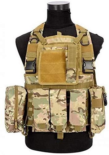 Coole atletiek 600D nylon vest CS veld tactische schieten met een luchtbuks poriën outdoor jachtcamouflage combat training jas vest Moore hjm zhanshubeixin (Color : CP, Size : One Size)