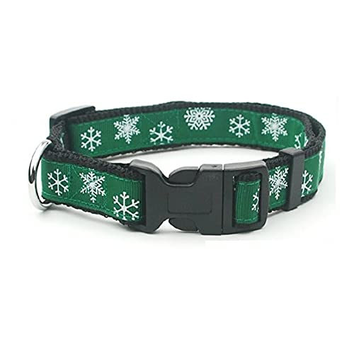 Collar Ajustable para Perro con Copo de Nieve de Navidad
