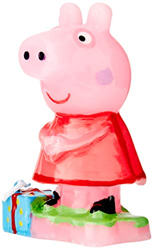 dekora 346089 Vela de Cumpleaños de Peppa Pig con Un Regalo, Cera, Multicolor, 3x3x8 cm