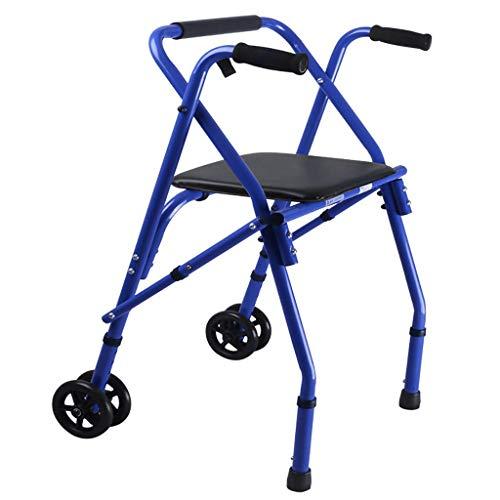 SONGYU Leichte Faltbare Gehhilfe, Rollator, Gehhilfe, mit Sitz-Gehhilfe für Erwachsene