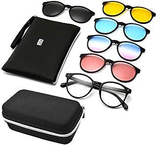 5b2ab93218 GreeSuit Gafas de sol con lentes 6 en 1 anteojos de metal con montura con  clip
