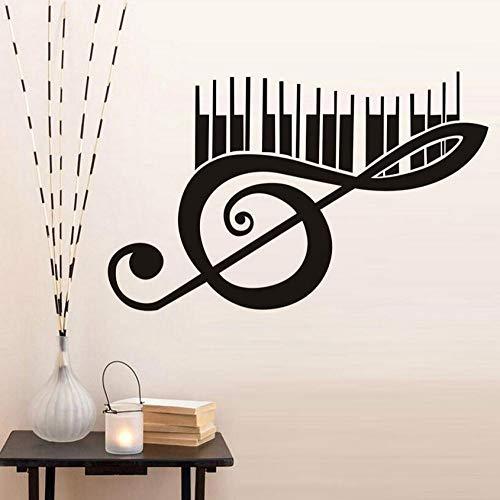rylryl Piano Music Note Wandtattoos Vinyl Abnehmbare Art Murals Wandaufkleber Wohnkultur Wohnzimmer Großhandel 59x37 cm