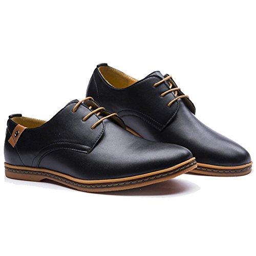 XMWEALTHY Men's Size Plus Dress Shoes Black US 8,EU size 41