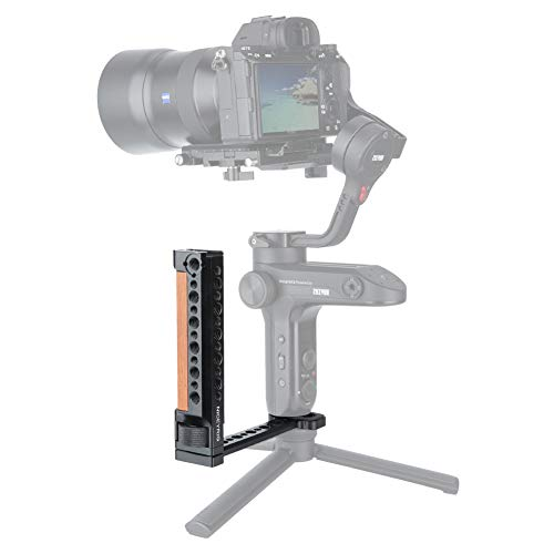 Niceyrig - Impugnatura laterale in legno per DJI Ronin S, Ronin-SC, DJI RS 2 / DJI RSC 2, Zhiyun Crane 2 / Gru V2 Series Handheld Gimbal Stabilizzatore
