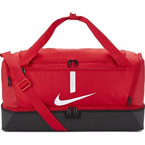 Nike Academy Team, Calcio Duffel Bag Unisex Adulto, Universita 'Red/Nero/Bianco, MISC