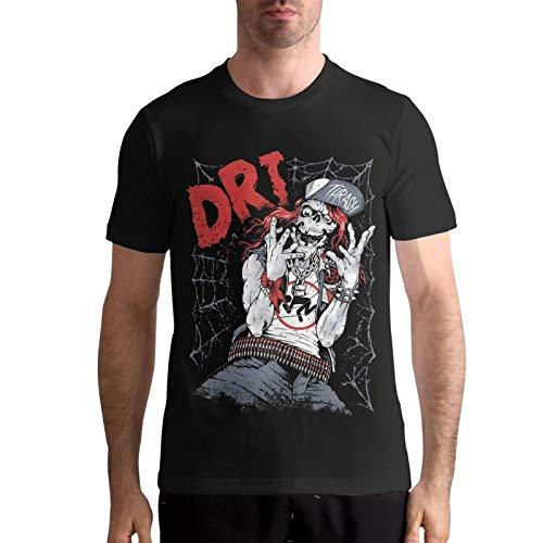 ZERORYNA D.R.I. Band T Shirt,Men