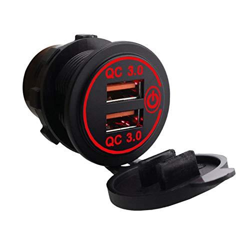 unknow 12 V USB Steckdose Quick Charge 3.0 Dual USB Steckdose mit Touch Switch Ladegerät